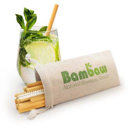 Korte bamboe rietjes