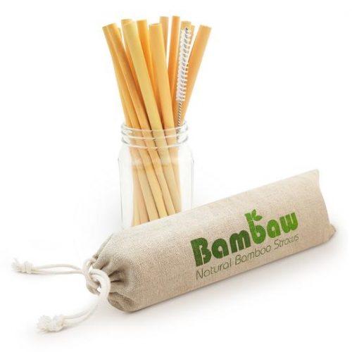 Lange bamboe rietjes