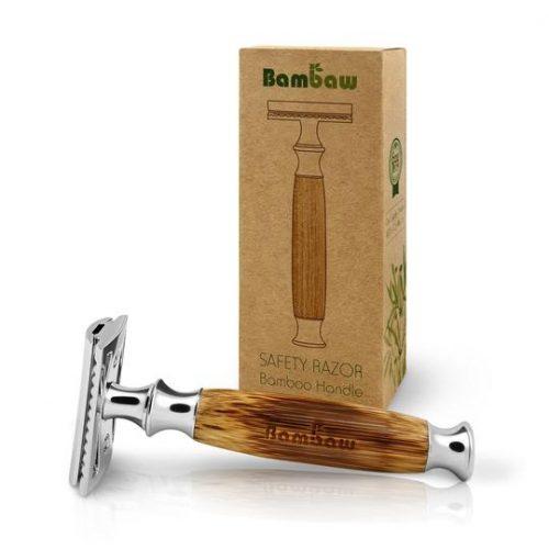 Safety razor met bamboe handvat
